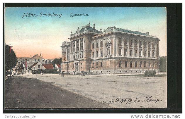 CPA Mähr.-Schönberg, Gymnasium Avec Hotel Ludwig - Tchéquie