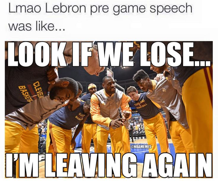 LeBron James' pre-game speech. #Cavs