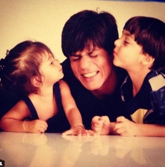 The world may be awwing over Shah Rukh Khan's youngest son AbRam Khan's pictures lately, but this picture shared by SRK's daughter Suhana will surely...