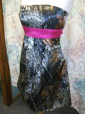 Custom Made CAMO Prom Wedding Bridesmaids Pleated Skirt Short Dress w/Belt on eBay!  @Courtney Megan