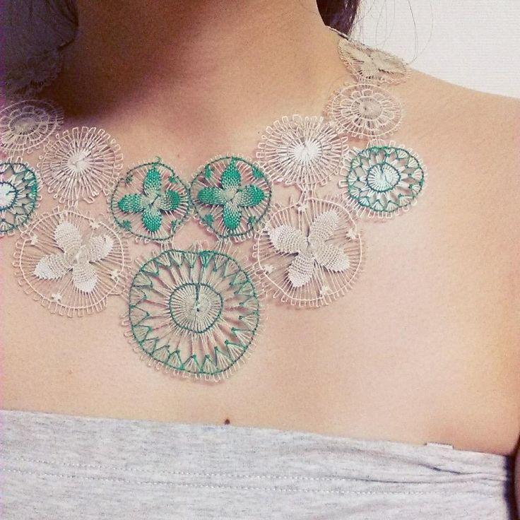 ñanduti  lace necklace