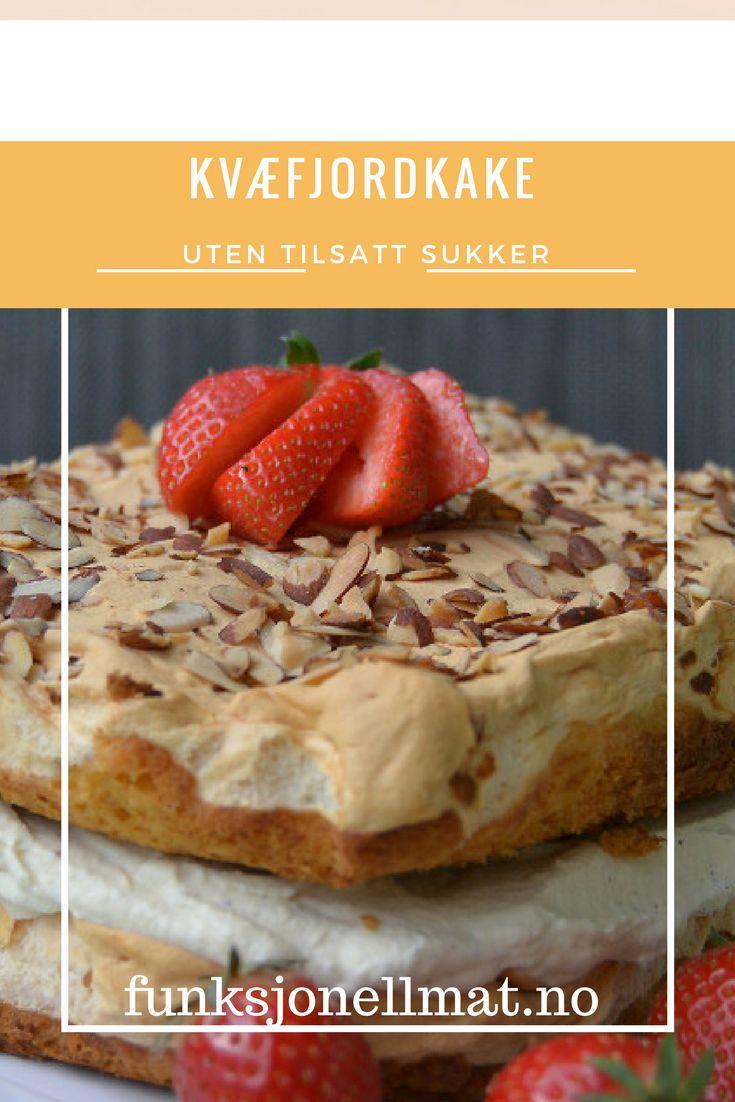 Kvæfjordkake - Funksjonell Mat | Verdens beste kake | Oppskrift kake | Sukkerfri kake | Sukrin | Glutenfri kake | Lavkarbo oppskrifter | Lavkarbo dessert | Lavkarbo kake | Kake uten tilsatt sukker | Bake sukkerfritt | Hjemmelaget kake