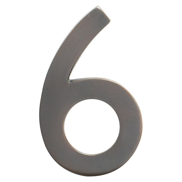 Bring an elegant look to your home's exterior with this five-inch floating house number from Architectural Mailboxes. Designed to be used with other floating house numbers, this number 6 is made from solid cast brass and features a dark copper finish. You can either mount it flush with the wall or leave the mounting screws partially out of the holes for a floating number effect. Due to the clever design, no holes or unsightly screw heads can be seen after mounting.