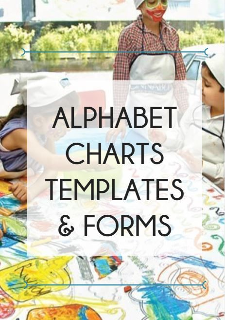 Best Alphabet Charts Templates  Forms Images On