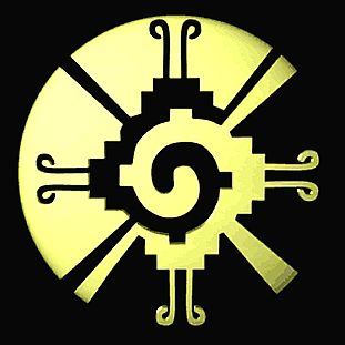 Hanab Ku - Mayan symbol  for the center of the Galaxy, and the consciousness which organized all matter from a whirling disk, into stars, planets and solar systems.   Hunab Ku is the Mother Womb which is constantly giving birth to new stars and planets in our solar system