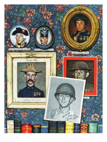 """Willie Gillis Generations"", September 16,1944 Giclee Print by Norman Rockwell at Art.com"