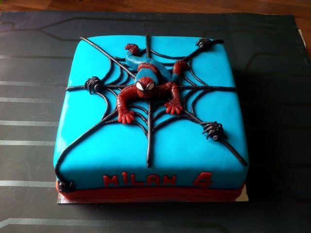 #taart #marsepein #fondant #spiderman