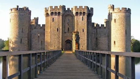 Bodiam Castle owned by the National Trust is a proper fairy tale castle with a moat and ramparts to explore.