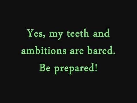 Be Prepared- The Lion King (lyrics) - YouTube