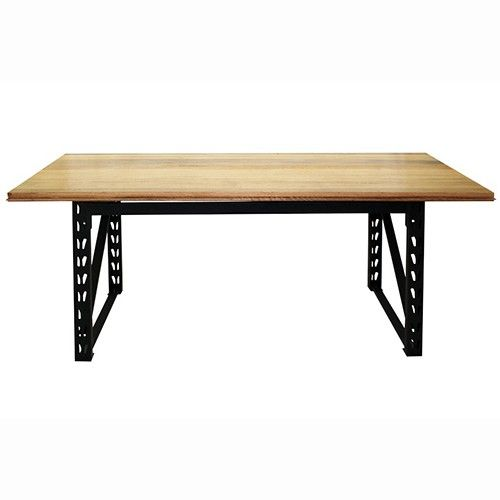 Matt's Benches - Dressed Sienna Industrial Dining Table - Black - 180 x 81cm