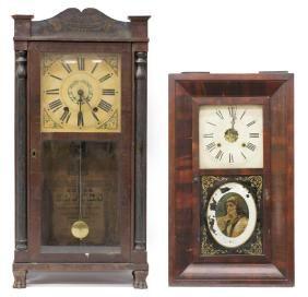 (2) ANTIQUE MANTEL CLOCKS ANSONIA BOARDMAN & WELLS