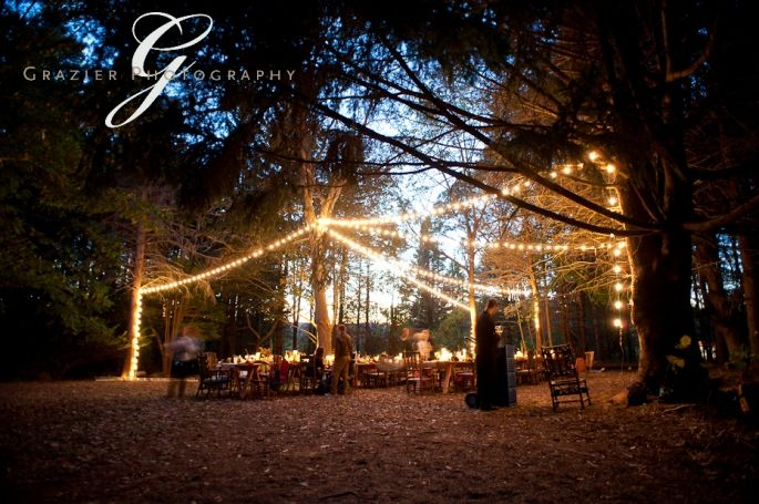 Love this evening idea for a #campground wedding!