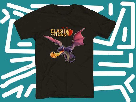 clash of clans dragon a 100 pre shrunk cotton by starwayshop, $15.50