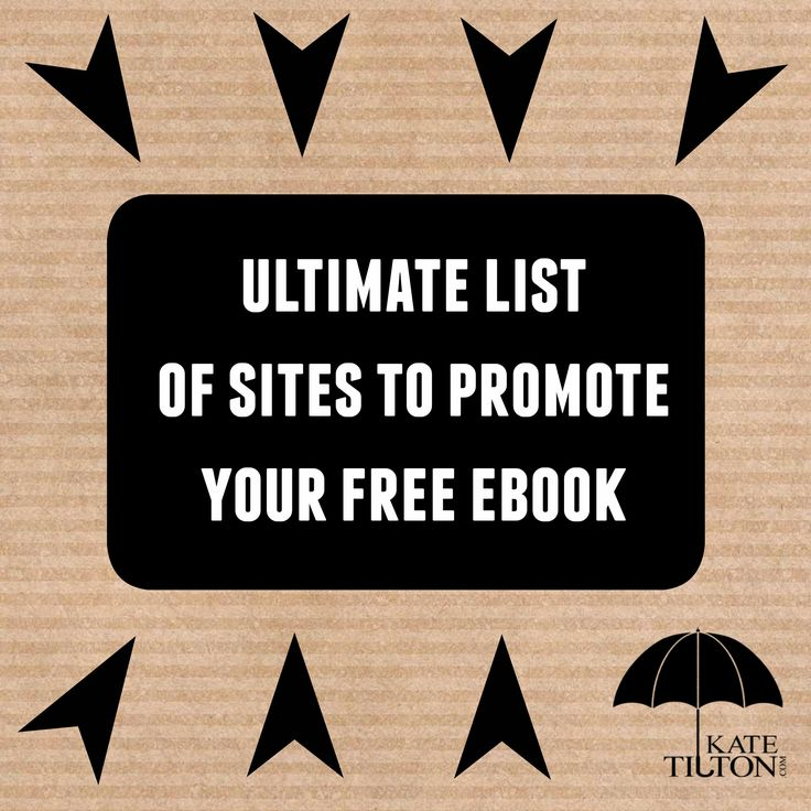 Ultimate List Of Sites To Promote Your Free EBook