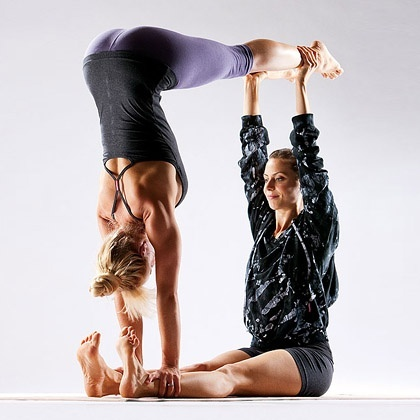 partner yoga fun  fitspiration  pinterest