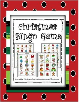 Colorful, ready-to-go Christmas Bingo Game. 30 Bingo cards and the calling cards are all included. With 30 different clip art pictures this Bingo Game will have your students excited about Christmas! If you laminate the cards they will last for many years and can be reused over and over again.