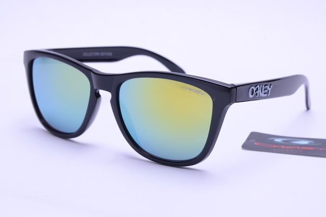 Oakley Frogskins Sunglasses Black Frame Colorful Lens 0404 [ok-1404] - $12.50 : Cheap Sunglasses,Cheap Sunglasses On sale