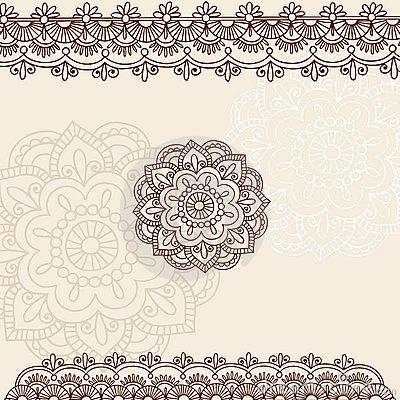 Projeto do vetor do Doodle de Mehndi Paisley do Henna