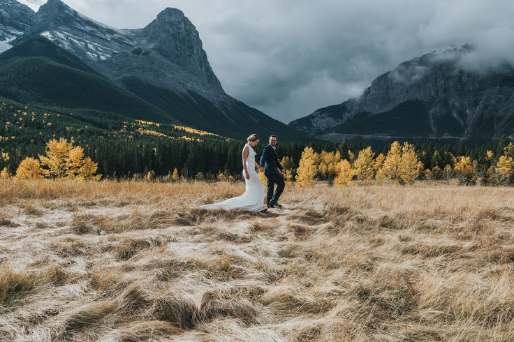 Quarry Park Canmore Wedding. The Three sisters in the background never fails to disappoint.