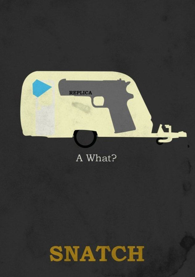Snatch (2000) ~ Minimal Movie Poster by David Peacock #amusementphile
