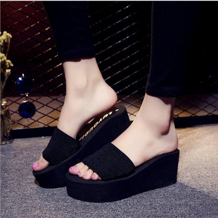 $7.99 (Buy here: https://alitems.com/g/1e8d114494ebda23ff8b16525dc3e8/?i=5&ulp=https%3A%2F%2Fwww.aliexpress.com%2Fitem%2FHOT-High-quality-Women-Sandals-2016-Fashion-High-Heels-Flip-Flops-Women-s-Wedges-High-heeled%2F32739925979.html ) HOT High quality Women Sandals 2016 Fashion High Heels Flip Flops Women's Wedges High-heeled Shoes for just $7.99
