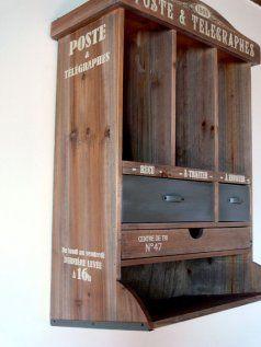 meuble courrier poste bois naturel natives d co d co et ps. Black Bedroom Furniture Sets. Home Design Ideas