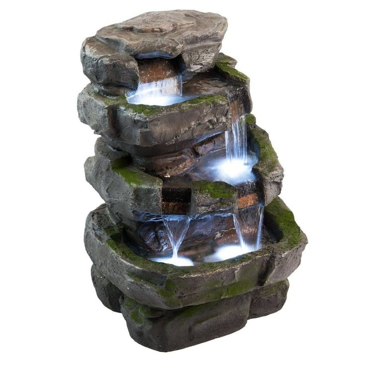 "22"" Wilson Rock Fountain with LED Lights"