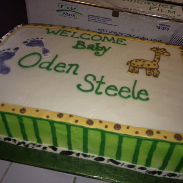 Baby boy jungle themed cake :)