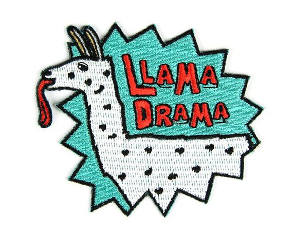 Llamas can be great friends but when there are too many of them it can be like youre back in high school! Let your potential llama buds know that you wont stand for their shenanigans with this spikey patch!  Iron-on backing. Measures 2.5 tall x 3 wide