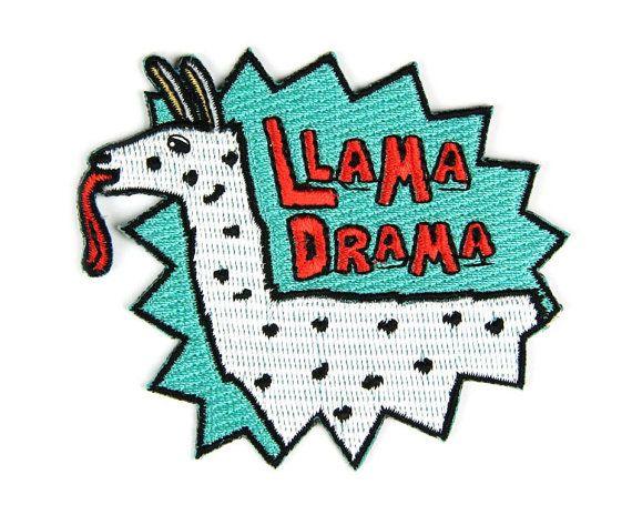 Lama Drama Eisen auf Patch von MokuyobiThreads auf Etsy