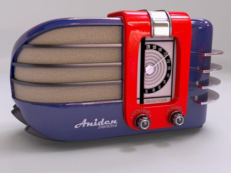 Wonderful Art Deco radio by Aniden