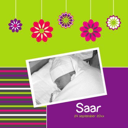 Vrolijk met eigen foto - Geboortekaartjes - Kaartje2go