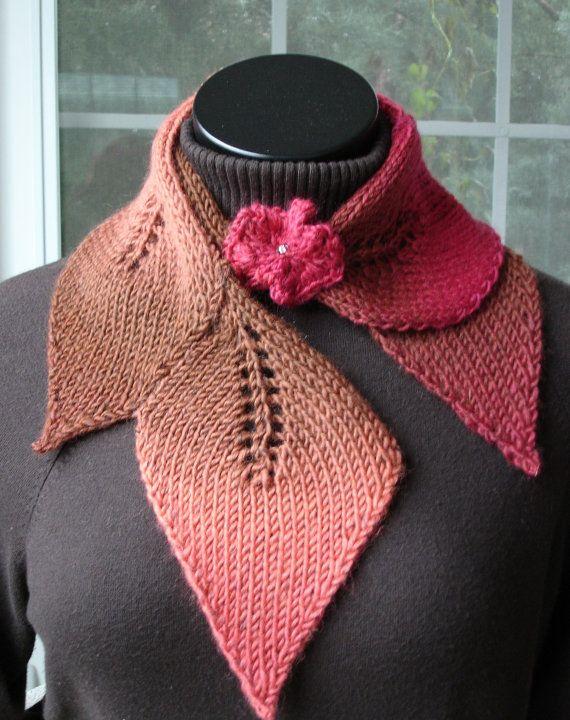 PDF for Suzanne Sullivan knit Leaf Scarf by SuzanneSullivan $6