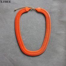 2016 новинка мода неон ожерелье женщины шарм розовый / оранжевый цепь ожерелья и…