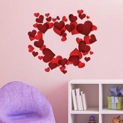 Cuore di Cuori Heart of Hearts Wall Sticker Adesivo da Muro