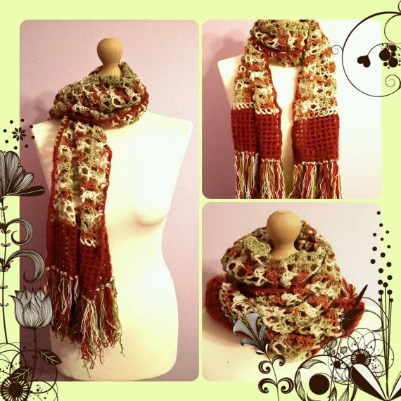 Check out this item in my Etsy shop https://www.etsy.com/listing/219007896/handmade-crochet-long-scarf-boho-style