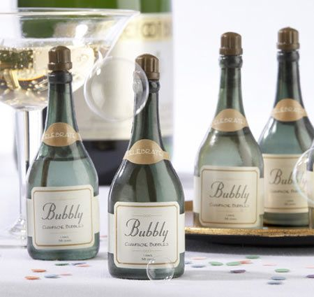 Bubbly Champagne Wedding Bubbles/Favors