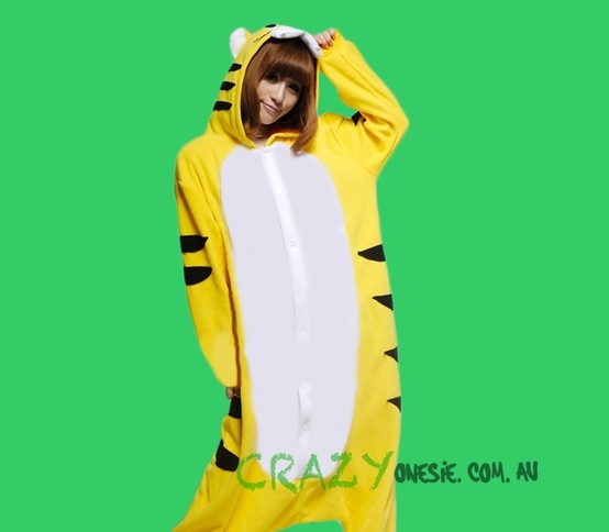 Tiger Onesie. 25% off EVERYTHING in store. Free Express Delivery Australia-wide. Visit www.crazyonesie.com.au for more details. Visit our Facebook page https://www.facebook.com/crazyonesie for exclusive competitions and discounts
