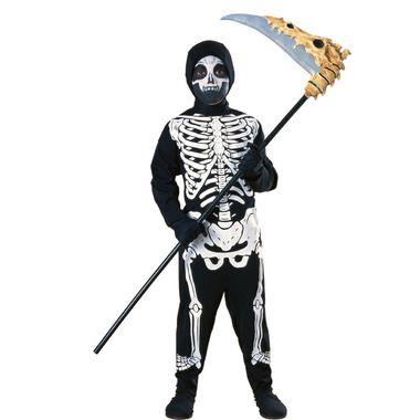 Skeletal boys costume - Full jumpsuit with hood