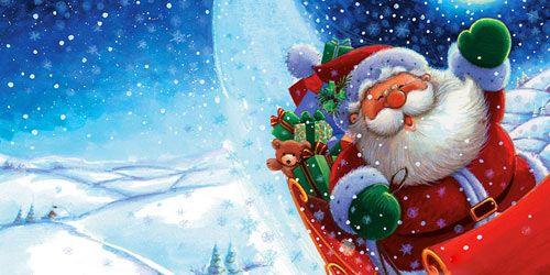 Christmas Twitter Cover - Santa