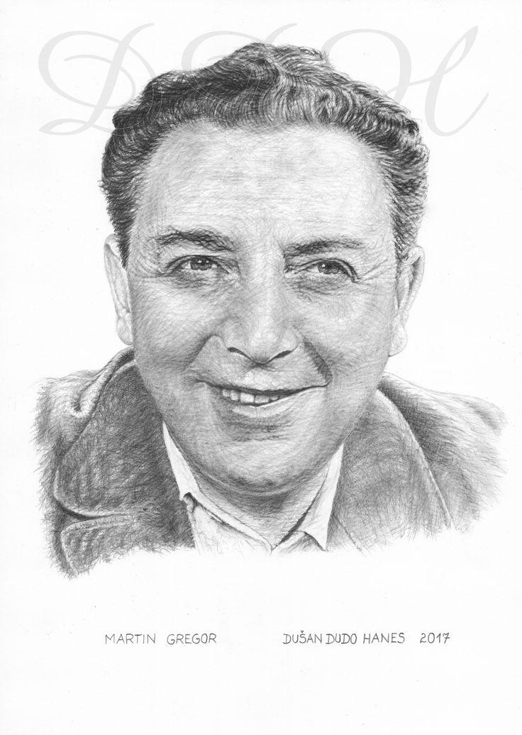 Martin Gregor, portrét Dušan Dudo Hanes