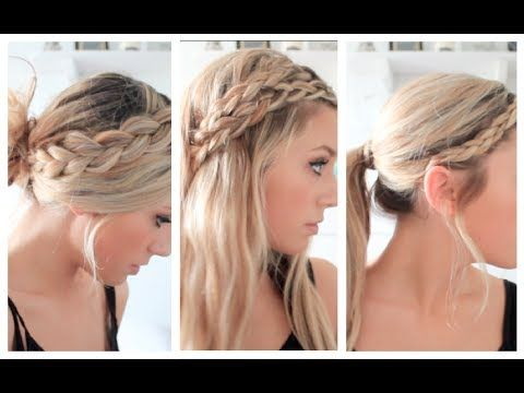 3 Braided Summer Hairstyles - YouTube