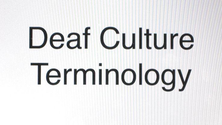 Deaf Culture Terminology