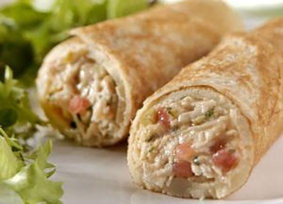 Panqueca de frango sem glúten e sem lactose