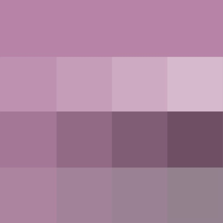 #Opera #Mauve shades (Hue) ( pure color ) with Tints (hue + white), Shades (hue + black) and Tones (hue + grey, which desaturates the Hue)