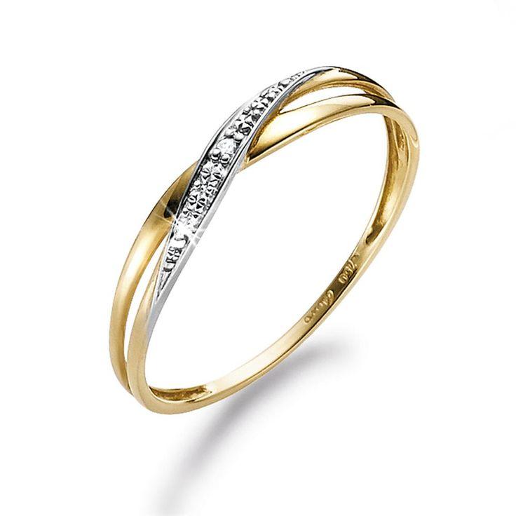 Prisvennlige diamanter: Gull ring med diamant 0,01 ct w.p kr 1.499,-