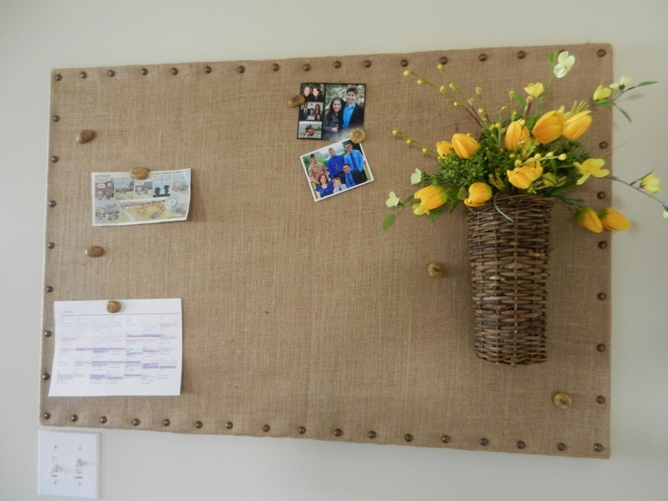 Copied Diy Burlap Bulletin Board So Easy And Love The