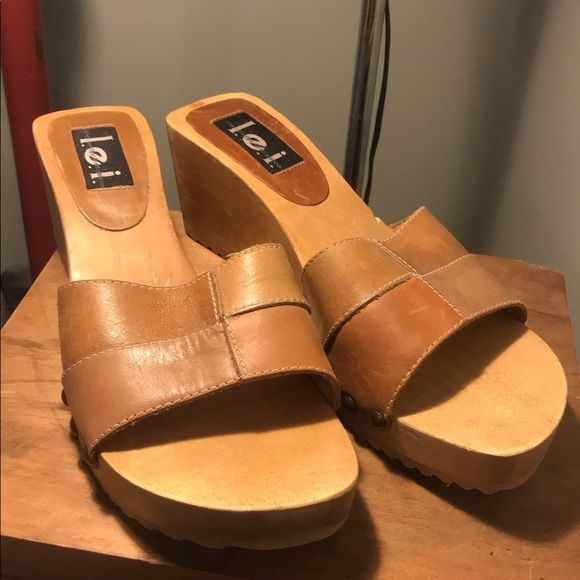 90s Leather Slip-on Heels in 2020