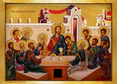 Last Supper Icon - HolyBrush.com