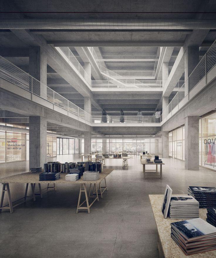 Förderpreis Gebäude: Verschiedene Nutzungen haben die Architekten für die ehemalige C&A-Filiale vorgesehen – Co-Working, Manufakturen, Buchhandlungen etc., © Paul Künzel, Philipp Obkircher